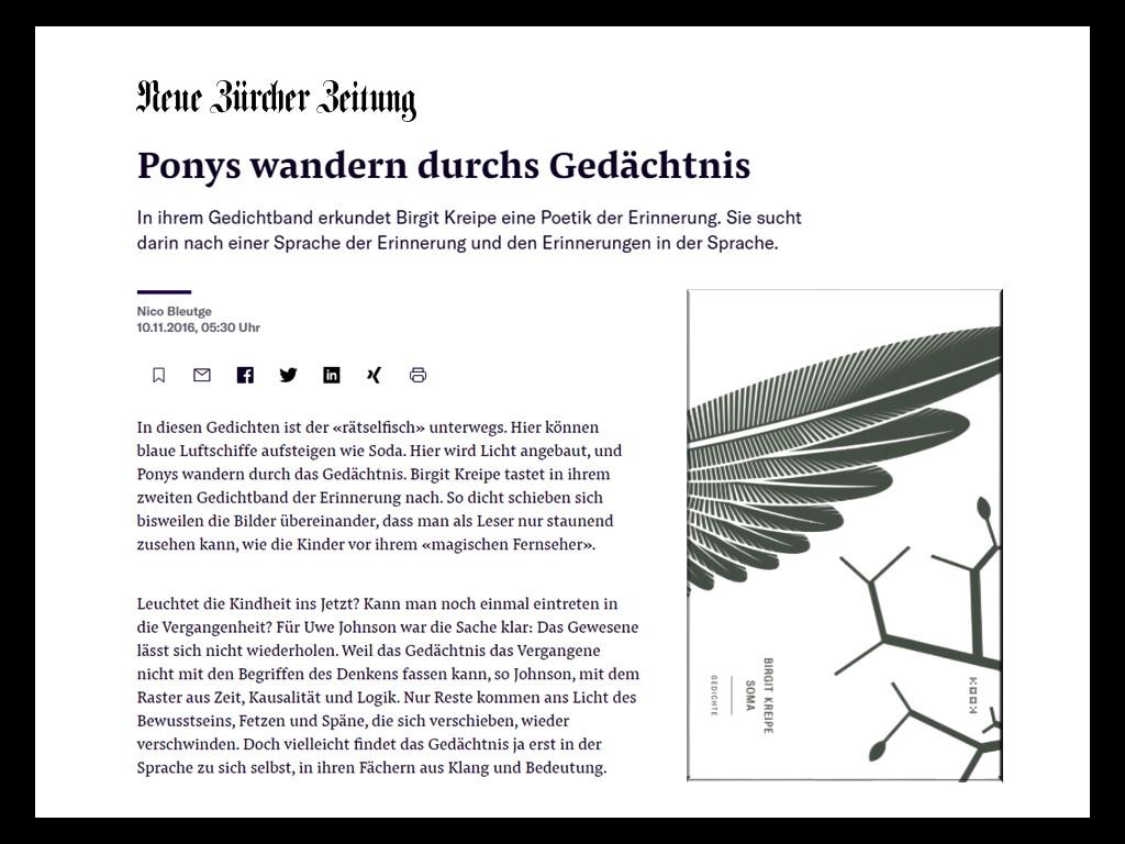 Asmus Trautsch / Ponys wandern im Gedicht - zu Birgit Kreipes »Soma«