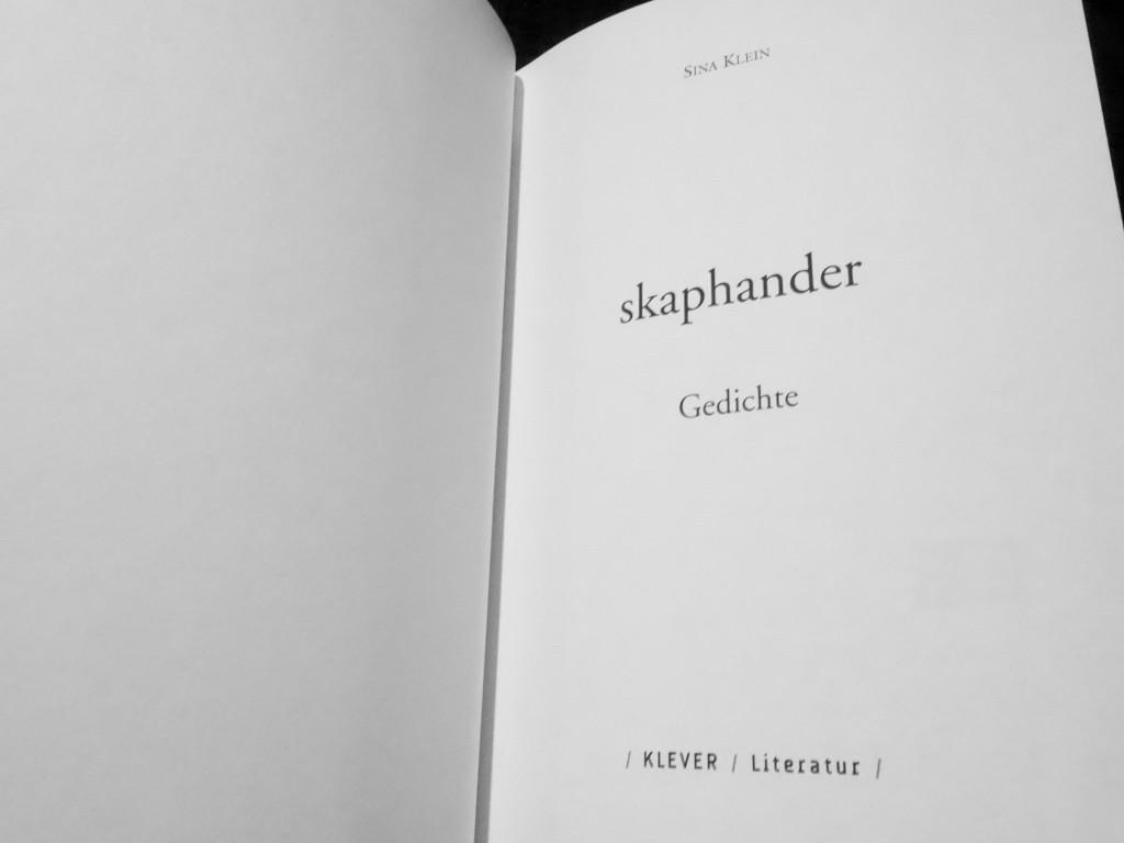Olga Lang / Eindrücke von der Zeitspirale - Sina Klein: »skaphander«