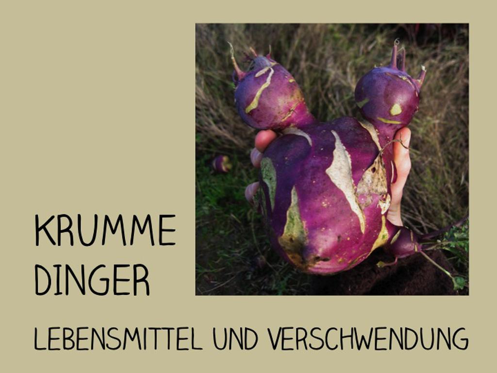 Katrin Schwermer-Funke / Krumme Dinger – Lebensmittel und Verschwendung