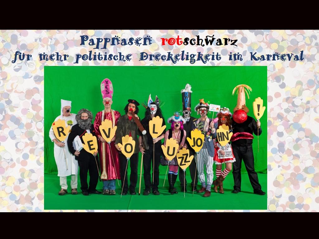 Lenssen-Erz, Tilmann / Karneval instandbesetzt - die Pappnasen-Rotschwarz