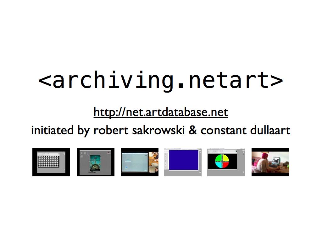 Robert Sakrowski, Ute Fischer / archiving.netart
