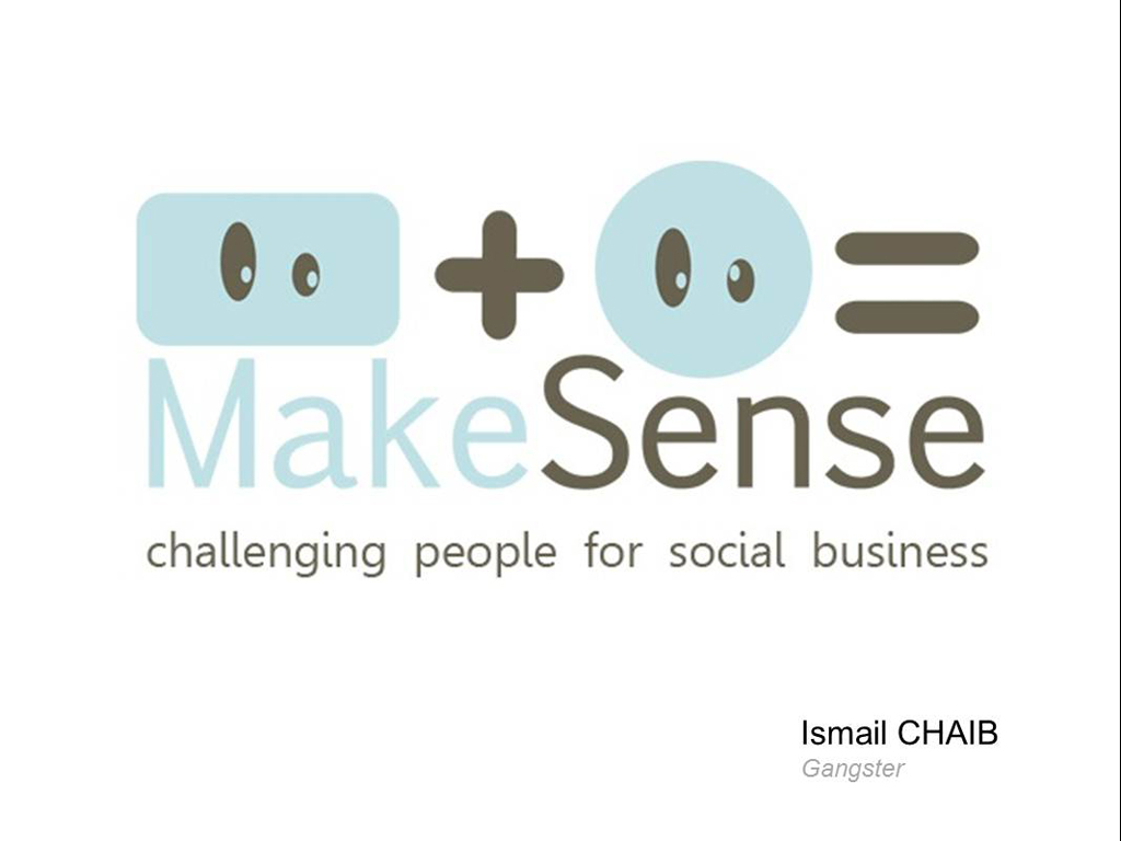 Ismail Chaib / Makesense, challenging people for social business