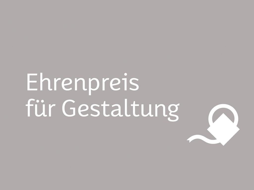 Juli Gudehus / Ehrenpreis für Gestaltung
