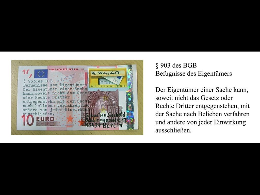 Sebastian Siechold / Zehn-Euro-Postkarte
