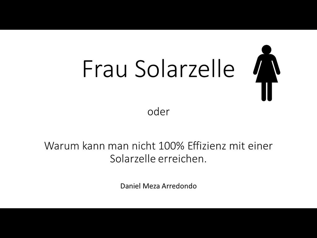 Daniel Meza / Frau Solarzelle